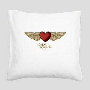 Darla the Angel Square Canvas Pillow