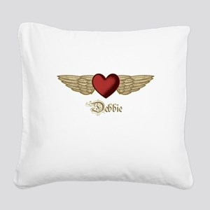 Debbie the Angel Square Canvas Pillow