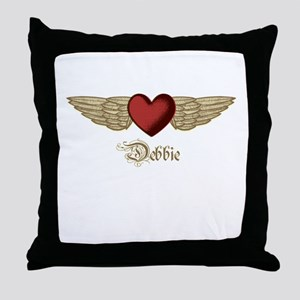 Debbie the Angel Throw Pillow