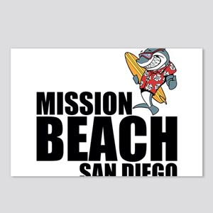 Mission Beach, San Diego Postcards (Package of 8)
