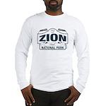 Zion National Park Blue Sign Long Sleeve T-Shirt
