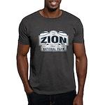 Zion National Park Blue Sign Dark T-Shirt
