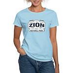 Zion National Park Blue Sign Women's Light T-Shirt