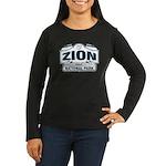 Zion National Park Blue Sign Women's Long Sleeve D