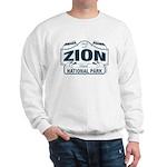 Zion National Park Blue Sign Sweatshirt