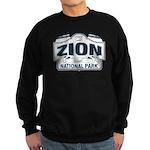Zion National Park Blue Sign Sweatshirt (dark)