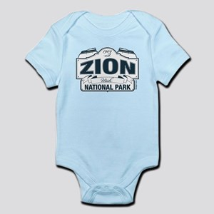 Zion National Park Blue Sign Infant Bodysuit