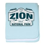 Zion National Park Blue Sign baby blanket