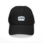 Zion National Park Blue Sign Black Cap