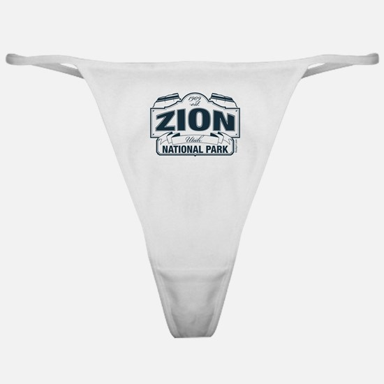 Zion National Park Blue Sign Classic Thong