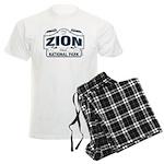 Zion National Park Blue Sign Men's Light Pajamas