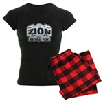 Zion National Park Blue Sign Women's Dark Pajamas