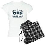 Zion National Park Blue Sign Women's Light Pajamas