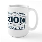 Zion National Park Blue Sign Large Mug