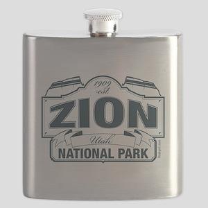 Zion National Park Blue Sign Flask