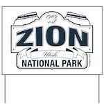 Zion National Park Blue Sign Yard Sign