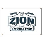 Zion National Park Blue Sign Banner