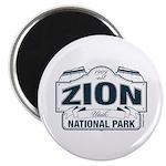 Zion National Park Blue Sign 2.25
