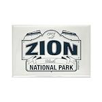 Zion National Park Blue Sign Rectangle Magnet (10