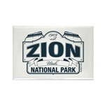 Zion National Park Blue Sign Rectangle Magnet (100