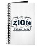 Zion National Park Blue Sign Journal