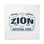 Zion National Park Blue Sign Queen Duvet