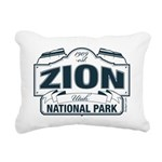 Zion National Park Blue Sign Rectangular Canvas Pi