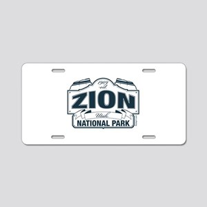 Zion National Park Blue Sign Aluminum License Plat