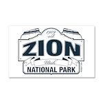 Zion National Park Blue Sign Car Magnet 20 x 12