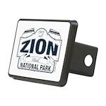 Zion National Park Blue Sign Rectangular Hitch Cov
