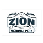 Zion National Park Blue Sign Postcards (Package of
