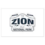 Zion National Park Blue Sign Large Poster