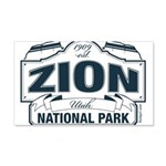 Zion National Park Blue Sign 20x12 Wall Decal