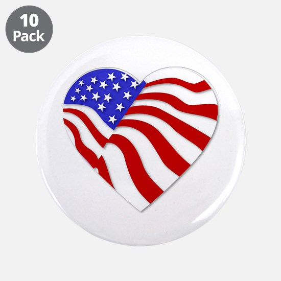 "Heart of America 3.5"" Button (10 pack)"