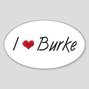 I heart Preston Burke Oval Sticker