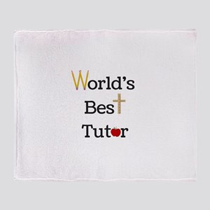 World's Best Tutor Throw Blanket
