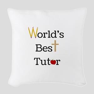 World's Best Tutor Woven Throw Pillow
