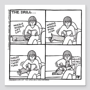 """The Drill - Square Car Magnet 3"""" x 3"""""""