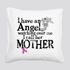 8-mother angel Square Canvas Pillow