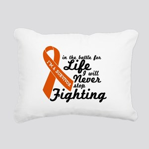 Leukemia Survivor Rectangular Canvas Pillow