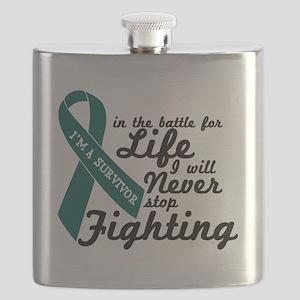 Ovarian Cancer Survivor Flask