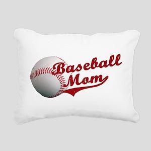 Baseball_Mom Rectangular Canvas Pillow