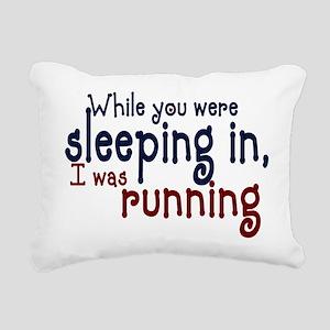 sleepin in copy Rectangular Canvas Pillow