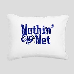 nothin but net blue Rectangular Canvas Pillow