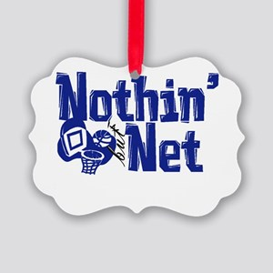 nothin but net blue Picture Ornament
