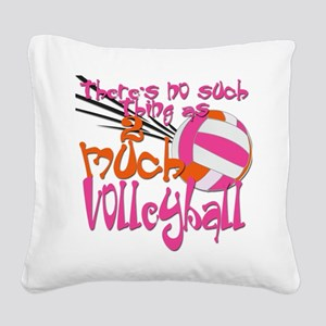 2much volleyball green blue Square Canvas Pill