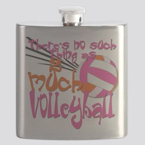 2much volleyball green blue Flask