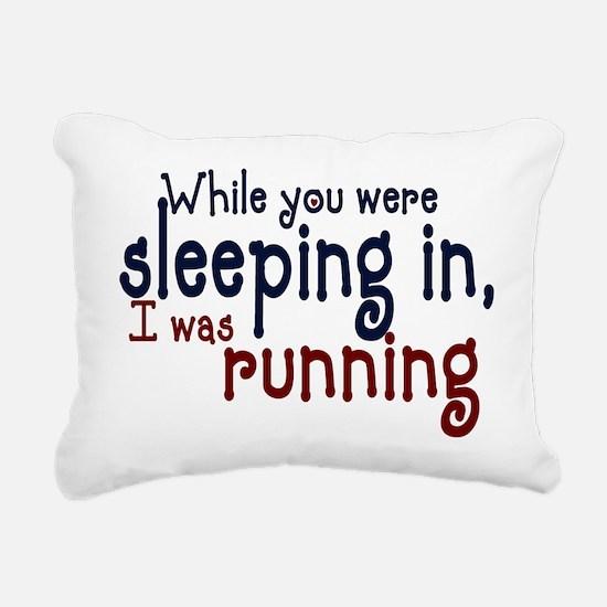 sleepin in copy.png Rectangular Canvas Pillow