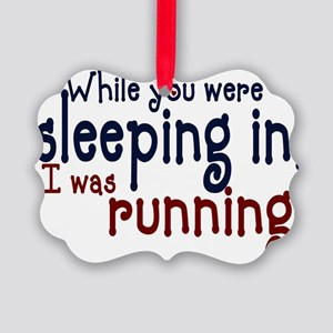 sleepin in copy Picture Ornament