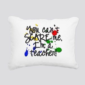 Teacher Scare copy Rectangular Canvas Pillow